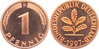 1 Pfennig 1997 D BRD  st  1,95 EUR  zzgl. 2,95 EUR Versand