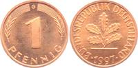 1 Pfennig 1997 G BRD  st  1,95 EUR  zzgl. 2,95 EUR Versand