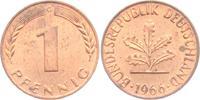 1 Pfennig 1966 G BRD  vz  1,95 EUR  zzgl. 2,95 EUR Versand