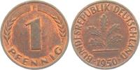 1 Pfennig 1950 F BRD  st  2,95 EUR  zzgl. 2,95 EUR Versand