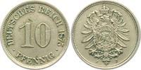 10 Pfennig 1875 J Kaiserreich 10 Pfennig - kleiner Adler vz  29,00 EUR  zzgl. 4,95 EUR Versand