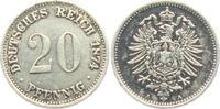 20 Pfennig 1874 A Kaiserreich 20 Pfennig - kleiner Adler ss+  7,95 EUR  zzgl. 2,95 EUR Versand