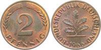 2 Pfennig 1966 G BRD 2 Pfennig bankfrisch  9,95 EUR  zzgl. 2,95 EUR Versand