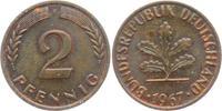 2 Pfennig 1967 F BRD 2 Pfennig vz-st  1,95 EUR  zzgl. 2,95 EUR Versand
