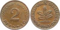 2 Pfennig 1963 G BRD 2 Pfennig vz  1,95 EUR  zzgl. 2,95 EUR Versand