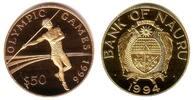 50 Dollars 1994 Nauru Olympiade Atlanta 1996 - Speerwerfer PP  197,00 EUR  zzgl. 6,95 EUR Versand