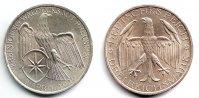 3 Mark 1929 A Weimarer Republik Silbermünze - Waldeck vz/st/RF  109,90 EUR