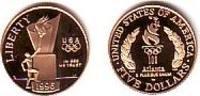 USA 5 Dollar Olympische Sommerspiele Atlanta 1996 - Olympisches Feuer