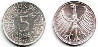 5 Mark 1956 F Deutschland 5 Mark Kursmünze - Silberadler prägefrisch  149,90 EUR  zzgl. 6,95 EUR Versand