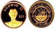 25 Dollar 2000 Liberia Goldmünze - König Ludwig II. von Bayern PP  59,90 EUR
