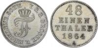 1/48 Taler 1864  A Mecklenburg-Schwerin Friedrich Franz II. 1842-1883. ... 25,00 EUR  zzgl. 5,00 EUR Versand