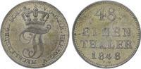 1/48 Taler 1848 Mecklenburg-Schwerin Friedrich Franz II. 1842-1883. Vor... 18,00 EUR  zzgl. 5,00 EUR Versand