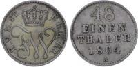 1/48 Taler 1864  A Mecklenburg-Strelitz Friedrich Wilhelm 1860-1904. Se... 10,00 EUR  zzgl. 5,00 EUR Versand