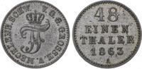 1/48 Taler 1863  A Mecklenburg-Schwerin Friedrich Franz II. 1842-1883. ... 10,00 EUR  zzgl. 5,00 EUR Versand