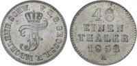 1/48 Taler 1852  A Mecklenburg-Schwerin Friedrich Franz II. 1842-1883. ... 30,00 EUR  zzgl. 5,00 EUR Versand