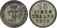 1/48 Taler 1863  A Mecklenburg-Schwerin Friedrich Franz II. 1842-1883. ... 5,00 EUR  zzgl. 5,00 EUR Versand