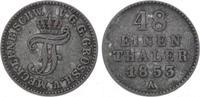 1/48 Taler 1853  A Mecklenburg-Schwerin Friedrich Franz II. 1842-1883. ... 7,00 EUR  zzgl. 5,00 EUR Versand