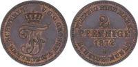 2 Pfennig 1872  B Mecklenburg-Schwerin Friedrich Franz II. 1842-1883. P... 35,00 EUR  zzgl. 5,00 EUR Versand