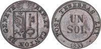 Sol 1833 Schweiz-Genf, Stadt  Vorzüglich-Stempelglanz  35,00 EUR  plus 5,00 EUR verzending