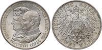 2 Mark 1909 Sachsen Friedrich August III. 1904-1918. Fast Stempelglanz  100,00 EUR  plus 5,00 EUR verzending