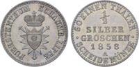 1/2 Silbergroschen 1858  A Schaumburg-Lippe Georg Wilhelm 1807-1860. Fa... 85,00 EUR  plus 5,00 EUR verzending
