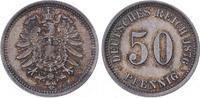 50 Pfennig 1876  E Kleinmünzen  Feine Patina. Fast Stempelglanz  100,00 EUR  plus 5,00 EUR verzending