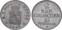 2 Neugroschen 1841  G Sachsen-Albertinische Linie Friedrich August II. ... 85,00 EUR  plus 5,00 EUR verzending