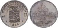 2 Neugroschen 1854  F Sachsen-Albertinische Linie Friedrich August II. ... 45,00 EUR  plus 5,00 EUR verzending