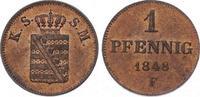 Pfennig 1848  F Sachsen-Albertinische Linie Friedrich August II. 1836-1... 40,00 EUR  plus 5,00 EUR verzending