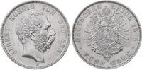 5 Mark 1876  E Sachsen Albert 1873-1902. Fast vorzüglich  485,00 EUR  plus 7,50 EUR verzending