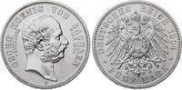 5 Mark 1904  E Sachsen Georg 1902-1904. Prachtexemplar. Stempelglanz.  300,00 EUR  plus 7,50 EUR verzending