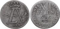 12 Pfennig 1721 Osnabrück, Bistum Ernst August II. von York 1716-1728. ... 30,00 EUR  zzgl. 5,00 EUR Versand