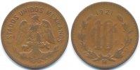 10 Centavos 1921 Mexiko - Mexico Republik - Bronze schön/sehr schön  28,00 EUR  zzgl. 3,80 EUR Versand