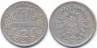 1 Mark 1883 D Kaiserreich kleiner Adler - Silber knapp sehr schön - kle... 29,00 EUR  zzgl. 3,80 EUR Versand