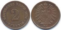 2 Pfennig 1874 H Kaiserreich kleiner Adler - Kupfer - 2x kleines Zainen... 55,00 EUR  zzgl. 3,80 EUR Versand