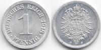 1 Pfennig 1918 D Ersatzmünze 1.WK Aluminium vorzüglich+ - minimal fleck... 24,00 EUR  zzgl. 3,00 EUR Versand