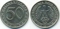 50 Reichspfennig 1939 B Drittes Reich Nickel prägefrisch - winziger Sch... 72,00 EUR  zzgl. 3,80 EUR Versand