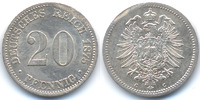 20 Pfennig 1875 C Kaiserreich kleiner Adler - Silber fast prägefrisch -... 29,00 EUR  zzgl. 3,80 EUR Versand