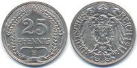 25 Pfennig 1911 E Kaiserreich Nickel prägefrisch - matt  28,00 EUR  zzgl. 3,80 EUR Versand