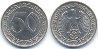 Drittes Reich 50 Reichspfennig 1939 F vorz...