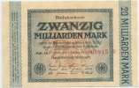Deutsches Reich Inflation 1919-1924 20 Milliarden Mark 1923 1 Rosenberg ... 25,00 EUR