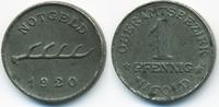 1 Pfennig 1920 Württemberg Nagold - Eisen 1920 (Funck 354.5) vorzüglich  79,00 EUR  zzgl. 3,80 EUR Versand