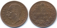 Italien - Italy 2 Centesimi Umberto I. 1878-1900