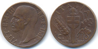 Italien - Italy 10 Centesimi Viktor Emanuel III. 1900-1946