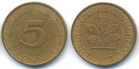 BRD 5 Pfennig Stahl/tombakplattiert