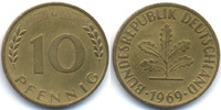 BRD 10 Pfennig Stahl/tombakplattiert