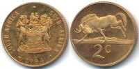 Südafrika - South Africa 2 Cents Republik seit 1961 - Bronze