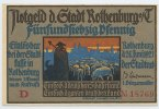 Bayern - Rothenburg o. T. 75 Pfennig Stadt Rothenburg o. T.