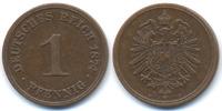 1 Pfennig 1874 H Kaiserreich kleiner Adler - Kupfer sehr schön  98,00 EUR  zzgl. 3,80 EUR Versand