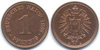 1 Pfennig 1889 A Kaiserreich kleiner Adler - Kupfer Polierte Platte/proof  229,00 EUR kostenloser Versand